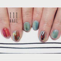 ▪️▫️⬜️▪️▪️☝︎ #nail#art#nailart#ネイル#ネイルアート…