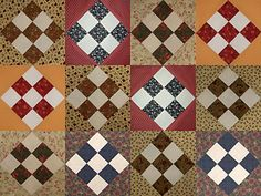Try These Easy Nine-Patch Quilt Blocks if You Love Country-Themed Decor: Make a Scrappy Country Nine Patch Quilt