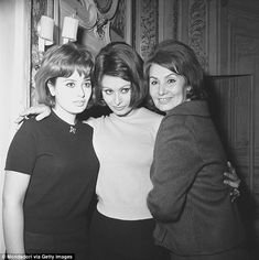 Good genes: Sofia Loren (center, in the 1960s) attributes her good looks to her mother (far right),  who she said looked like Greta Garbo as a young woman