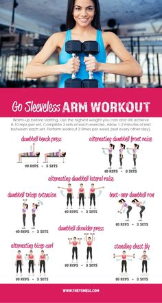 Me Time at the Gym - Get Your Arms in Shape for Spring Fashion with this free printable Go Sleeveless workout routine. Arm workout for flab/bat wings...