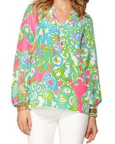 Lilly Pulitzer Elsa Top in A Delicacy