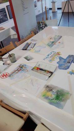 "Malevent bei ""Rostock kreativ"" in der Kunsthalle Rostock   Pause beim Malen bei Rostock kreativ in der Kunsthalle Rostock (c) Frank Koebsch (2) Pause, Watercolor Painting, Artworks, Creative"
