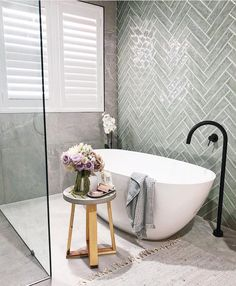 BEFORE & AFTER // We love recent bathroom reno, Samia has absolutely nailed every last detail in this incredible… Bathroom Renos, Laundry In Bathroom, Bathroom Furniture, Beautiful Bathrooms, Modern Bathroom, Small Bathroom, Small Freestanding Bath, Bathroom Goals, Romantic Home Decor