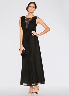 Bekijk nu:In deze prachtige jurk van BODYFLIRT zie je er voor alle gelegenheden adembenemend uit. Het highlight is de bijzondere halslijn met fraaie versiering van strassteentjes. Plooitjes bij het decolleté en in de taille. Lengte in mt. 38 ca. 140 cm.