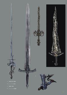 Dark Souls 3 Artbook: Arms Dark Souls, Dark Souls 3, артбук, Концепт-Арт, Оружие, длиннопост