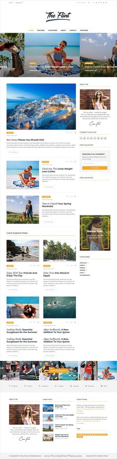 Flint is clean, optimised and modern design responsive #WordPress theme for creative #blog and #bloggers website with 15+ homepage layouts download now..