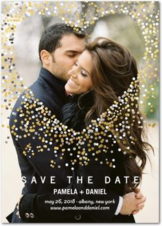 Save the Date with Unique Save the Dates & Invitations   Wedding Paper Divas