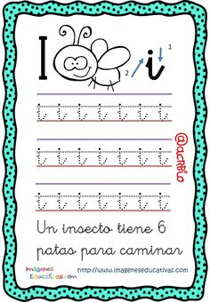Libro de trazos repasamos el abecedario (10) Letter I Worksheet, Handwriting Practice, Summer School, Filofax, Worksheets, Kindergarten, Bullet Journal, Lettering, Math Equations