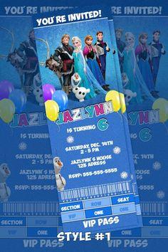 Olaf Birthday Invitations