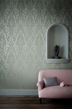 Ikat wallpaper from Jim Thompson