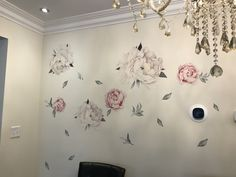 So beautiful, great quality, and reusable! It took me a while for the perfect placement and I took them on and off a bunch of times and they're still in perfect condition. Wall Stickers Vintage, Flower Wall Stickers, Reusable Wall Stickers, Peony Flower, Flowers, Peonies, Nursery, Party Ideas, Watercolor