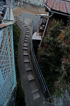 夜散歩のススメ「うねる階段」東京都板橋区
