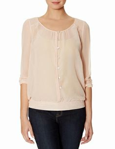 Smocked Shoulder Layering Top from THELIMITED.com #ItsTime