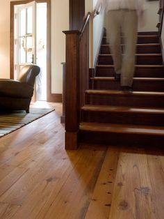 """Coastal Living"" Holiday Coastal Cottage in Yellow Bluff, GA - Heart Pine RECLAIMED wide plank flooring - Tavern Grade authentic pine floors"