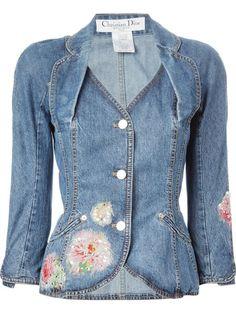 Christian Dior Vintage embellished denim jacket