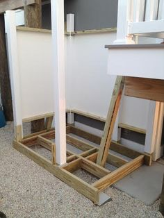 The Floor Deck is approximately 4' x 6' which includes both the shower area and the changing area.