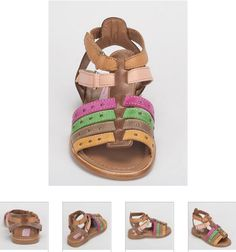#Children's #Cherie #Sandals - Multicolor #Leather #Kids Shoes. http://www.rinastore.com/1701-cherei-sandals-brown/dp/2234   #MadeInItaly Available at Rina's #Italian #Shoe #Boutique. On Sale Now!