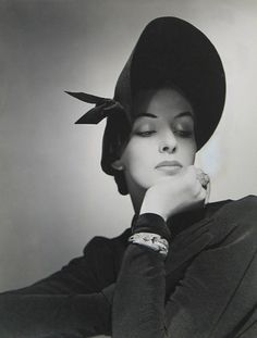 Fashion photo by George Platt Lynes for Bergdorf Goodman, 1940s.