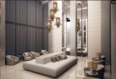 Great Pre-construction Condo in South Florida: Brickell Ten Lobby Design, City Scene, Lobbies, Real Estate Companies, Pent House, Condominium, South Florida, Floor Plans, Lounge