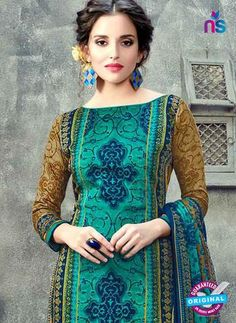Buy RT 17945 Sea Green Cotton Suits Online at Newshop.in.  #cottonsalwarsuitsonline #latestcottonsuits #seagreen #newshop