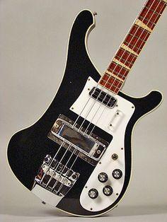 Checked edge Rickenbacker bass. Rare and awesome.