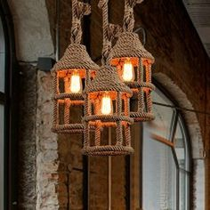 Wicker Loft Iron Rope Droplight Edison Industrial Vintage Pendant Light Fixtures For Dining Room Bar Hanging Lamp Home Lighting