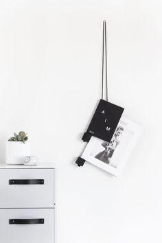 DIY: rope magazine holder