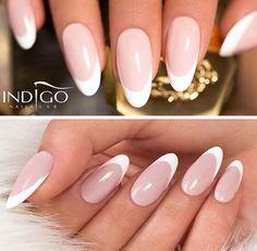 Can't Speak French Gel Brush #nails #nail #nailart #french #white #classy #indigo #sexy
