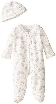 941044d1c83 Little Me Baby-Girls Newborn Sweet Owls Footie and Hat