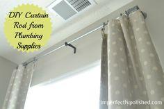 diy curtain rod tutorial