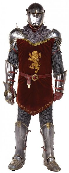 Peter's armor from the duel with Miraz.