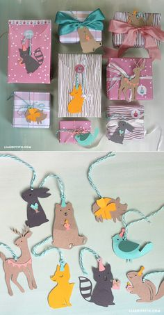 Etiquetas de regalos animales del bosque - Woodland Animal Gift Tags https://liagriffith.com/woodland-animal-gift-tags/