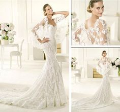 Unusual lace wedding dresses