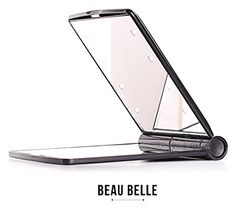 Beau Belle Mirror - Compact Mirror - Compact Mirror With Light - LED Mirror - Handbag Mirror - Handbag Mirror Compact - Make Up Mirror - Beauty Mirror - Mirror With Lights - Cosmetic Mirror