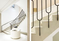 like these pickets but dont like how it extends beyond the stairs  CHLOÉ PARIS: By Joseph Dirand