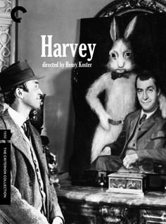 "Harvey - Henry Koster 1950 - DVD07877 -- ""About a good-natured fellow whose constant companion is a six-foot tall invisible rabbit. His sister is determined to marry her daughter off & decides to commit her brother to a mental hospital to get him out of the way. Due to a mix-up the sister is committed instead, & it is up to the kindly brother & his imaginary friend to straighten things out!"""