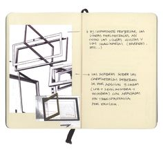Windows studies (sketch)_Moleskine (Ink and photo), 2009_Mariasun Salgado