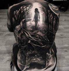 Back Tattoo by Artist JP Alfonso