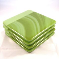 Fused Glass Coasters Set of 4