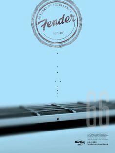 Fender Layout Design, Design Art, Print Design, Logo Design, Lettering, Typography Design, Anniversary Logo, Cool Posters, Art Posters