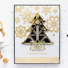 This week we are talking Christmas in July and Yana is showing us an Art Deco Christmas with an easy inlaid die cutting video tutorial.