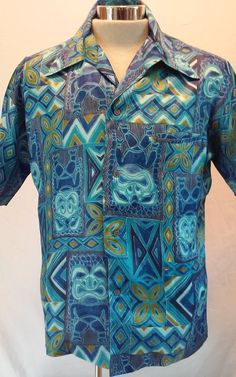 9e5f1b57 M Short Sleeve Regular Size Hawaiian Casual Shirts for Men | eBay