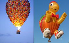 I LOVE that there is a real hot air balloon like the one in UP!  The Cool Hunter - Events