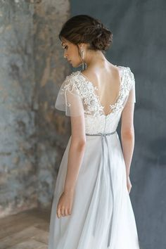 ANISIA / embroidery lace wedding dress low sexy embroidery b.- ANISIA / embroidery lace wedding dress low sexy embroidery back comfortable corset brautkleid gown ethereal tulle bridal gown short sleeves - Corset Wedding Gowns, Bridal Gowns, Lace Wedding, Wedding Dresses, Wedding Ceremony, Wedding Decor, Ethereal Wedding Dress, Wedding Attire, Dream Wedding