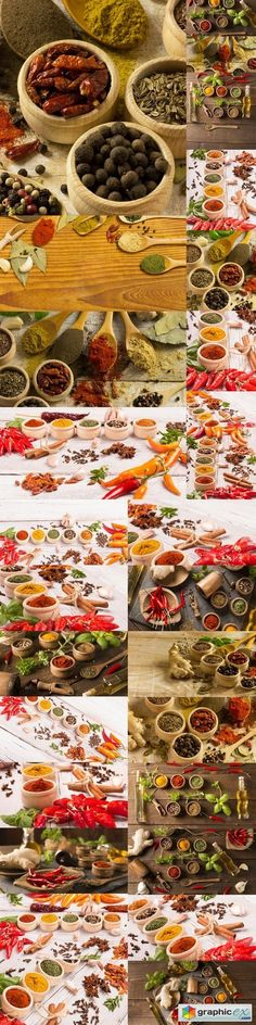Colourful spices  stock images