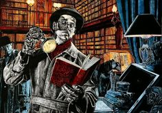 Detective Books… detective of books / Los libros de detectives… detectives de libros (ilustración de Jean-Claude Claeys)