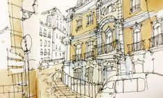 Pedro Alves (@dk_limp) в Instagram: «A quick sketch still in progress during #lunchtime in #lisboa #aquarell #art #painting #watercolor #watercolour #sketch  #paint  #drawing #sketching #sketchbook #travelbook #archisketchery #sketchaday #sketchwalker #sketchcollector  #traveldiary #topcreator #usk  #urbansketch #urbansketchers #скетчбук #скетч #скетчинг #pleinair #aquarelle #watercolorsketch #usk #architecture #painting #illustration