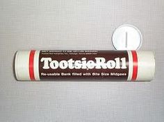 Remember the Tootsie Roll bank? Totally had one - it came full of midgees right?