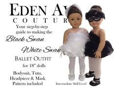 Eden Ava Couture Black Swan White Swan Ballet by EdenAvaCouture