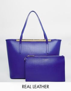 Ted Baker Small Crosshatch Shopper With Matching Detachable Pouch